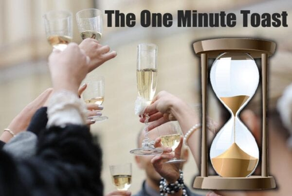 one minute wedding toast